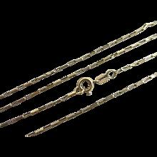 9k gold box chain link necklace vintage 1991 English hallmark.