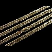 9k gold chain link necklace Vintage c1980.