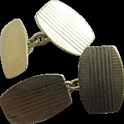 9k gold cufflinks vintage 1958 English hallmark.