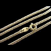 18k gold chain link necklace Vintage c1980.