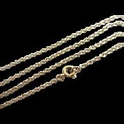9k gold chain link necklace vintage c1920 Art Deco.