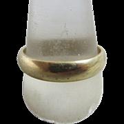 9k gold wedding band ring vintage 2000 Millennium English hallmark.