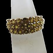 Lemon topaz 9k gold ring vintage 2005 English hallmark.