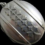 Sterling silver double pendant locket antique Victorian c1890.