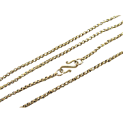 """18k gold chain link necklace 56.6cm 22.2"""" vintage Art Deco c1920."""