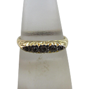 Diamond 18k gold ring antique Edwardian c1910.