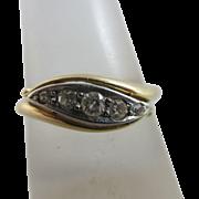 Diamond 18k gold ring vintage Art Deco c1920.