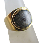 18k gold inscribed mourning ring antique 1798 Georgian.