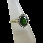 Emerald diamond 9k gold ring vintage 2005 English hallmark.