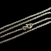 "9k gold chain link necklace 48.0cm / 18.9"" Vintage c1980."