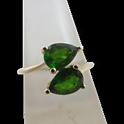 Emerald 9k gold ring vintage 2014 English hallmark.