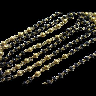 22k gold tourmaline necklace vintage Art Deco c1920.