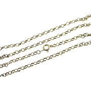 "9k Gold Chain Link Necklace 56.5cm / 22.2"" Vintage 1988 English Hallmark."