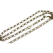 "9k Gold Chain Link Necklace 62.7cm / 24.68"" Vintage c1980."