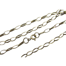 "9k Gold Chain Link Necklace 43.0 cm / 16.9"" Vintage 1989 English Hallmark."