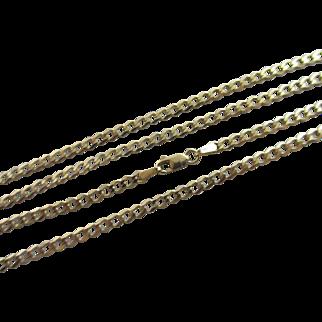 "9k Gold Chain Link Necklace 60.8cm / 23.9"" Vintage c1980."