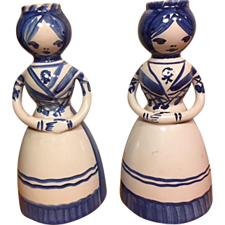 Pair Lars Syberg Ceramic Candlesticks