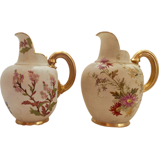 2 Small Royal Worcester Pitchers