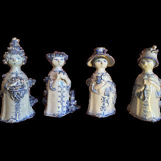 4 Bjorn Wiinblad Figures