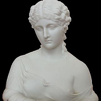 Copeland parian bust of Clytie C. Delpecht Art Union London 1863