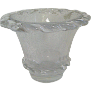 Daum Nancy clear vase