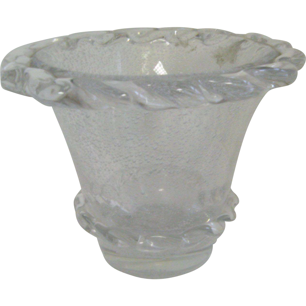 Daum nancy clear vase from jan jill and jon on ruby lane - Deco pour vase transparent ...