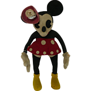 1930's French Minnie Mouse Felt Doll