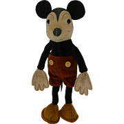 "1930 Mickey Mouse Cloth Doll 7""{"