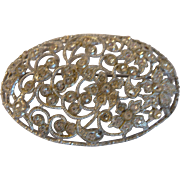 1930's Laced Paste Brooch