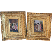 Late 1800s Oil Painting w Beautiful Gold Frames