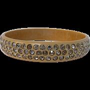 1903's Celluloid Paste Bangle Bracelet