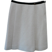 Vintage Chanel Ivory Boucle Wool Skirt Size 42
