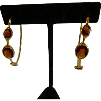 Estate Ippolita 18k Gold Citrine Large Hoops