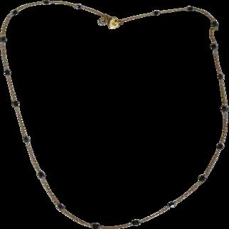 Estate Me & Ro 18k Gold Black Diamond Chain Necklace