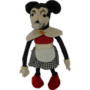 1930's French Minnie Mouse Stuffed Doll