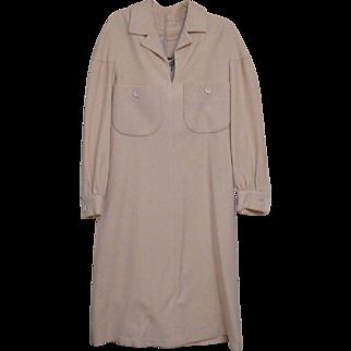 Vintage Geoffrey Beene Ivory Wool Shift Dress