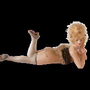 Goebel German Bathing Beauty Doll w Blonde Wig