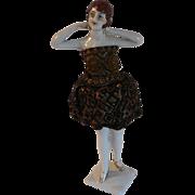 Antique Bathing Beauty China Half Doll