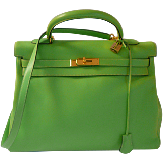 Vintage Hermes Apple Green Swift Kelly Bag GORGEOUS!!