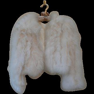 Vintage 1970s White Marabou Jacket