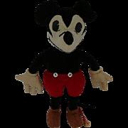 """Rare Charlotte Clark Mickey Mouse Velvet Doll 9"""""""