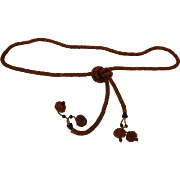 1920's Corded Topaz Beaded Knot Necklace