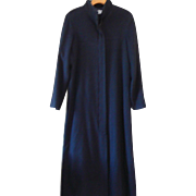 Vintage Calvin Klein Collection Black Wool Maxi Coat