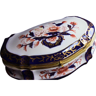 Vintage Imari Style Porcelain Dresser Box