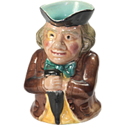 Vintage Majolica Toby Jug - Man With Umbrella