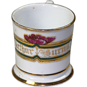 "Floral Border ""Arthur Burns"" Shaving Mug - Vintage"