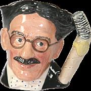 Large Royal Doulton Character Jug - Groucho Marx D6710