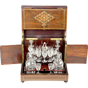 French Tantalus with Glassware - Napolean III era (1852 -1870) - Red Tag Sale Item