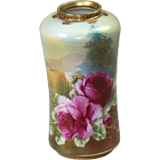 Nippon Hand Painted Porcelain Vase