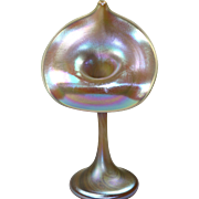 Iridescent Art Glass Jack-in-the-pulpit Vase by Carl Radke